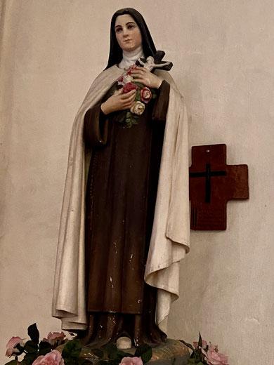 Statue de Sainte Thérése de L'Enfant Jésus Eglise d'Agon-Coutainville Manche