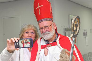 Ein Selfie mit dem Nikolaus © Leidert