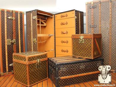 Entrenir, nettoyer malle ancienne Louis Vuitton goyard Moynat