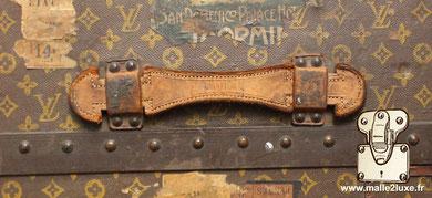Entretenir poignée de malle ancienne Louis Vuitton