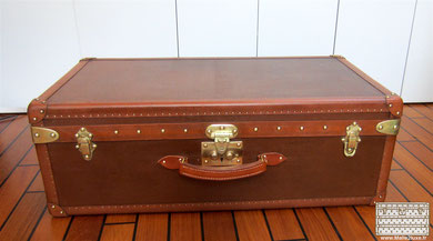 cabin suitcase brown Goyard trunk