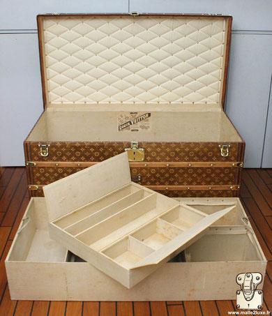 nettoyer et entretenir l'intérieur de sa Malle Louis Vuitton. tissu ancien
