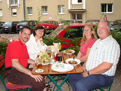 Ben & Barb Simpson (right) with German tour director Petra and friend in Munich.  2007