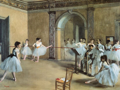 Edgar Degas - The dance foyer at the opera..