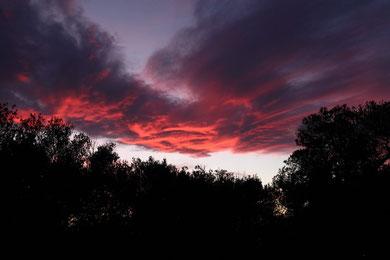 Sonnenuntergang in Athen (18:34 Uhr)