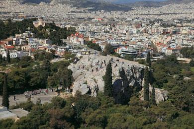 Aussichtsfelsen unterhalb der Akropolis.