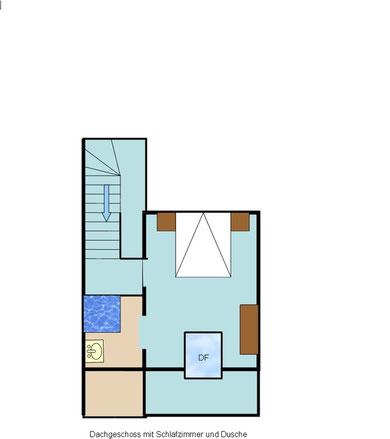 Ferienhaus Obergeschoss