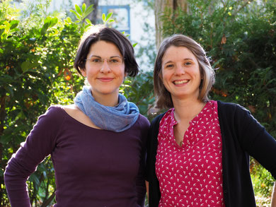Referenten Cornelia Poltnigg  und Adina Krause (v. l.)