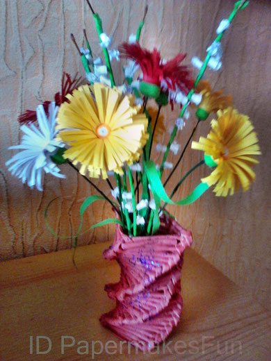 Flowers in a Vase created with Paperrolls