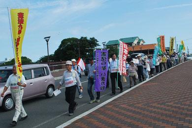 瀬戸川河川敷から藤岡まで1時間パレード