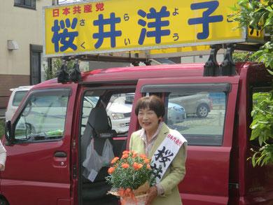 息子さんから母の日のカーネーション(桜井市議)