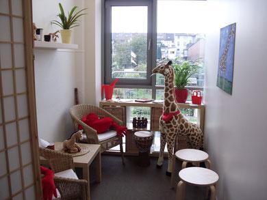 Das Giraffenhaus von innen.