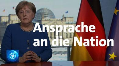 Coronavirus: TV-Ansprache von Kanzlerin Merkel  © Tagesschau
