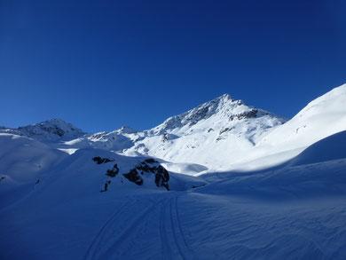 Skitour, Flüela Schwarzhorn, Davos, Flüelapass, Graubünden, Schweiz
