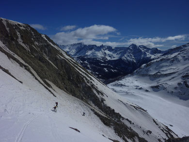 Skitour, Skihochtour, Piz Varuna, Engadin, Bernina, Schweiz