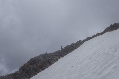 Weissmies, Abstieg Südsüdostgrat, SSE-Grat,Süd-Südostgrat,  Almagellerhütte