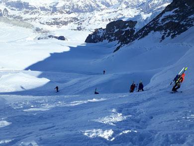 Nordend, Skihochtour, Monterosa, Spalte, Bergschrund