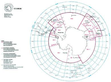 CCAMLR海域 (CCAMLR事務局提供)
