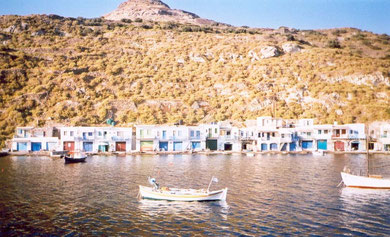 Plaka (the capital of Milos) the most characteristic town of the island