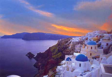 Santorini is famous all over the world - Sunset in Oia