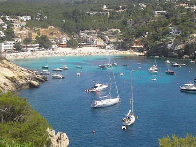 The beautiful Cala Vadella