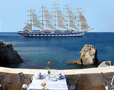 A romantic restaurant in Dubrovnik