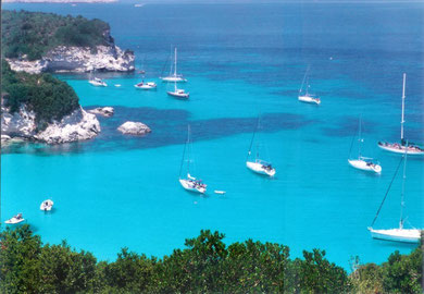 A paradise bay in Antipaxos