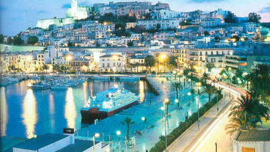 The harbour of Ibiza