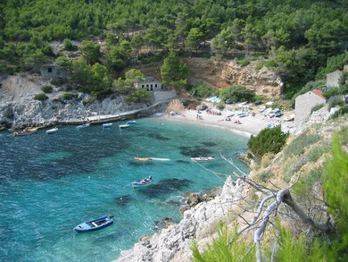 Mljet with its natural sandy bays
