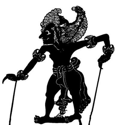 Bima, der Zweite dr fünf Pandawa Brüder.  Figur aus Bali