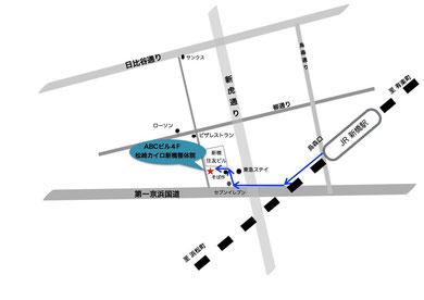 新橋松崎カイロ整体院の地図