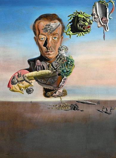 Сальвадор Дали - портрет Поля Элюара