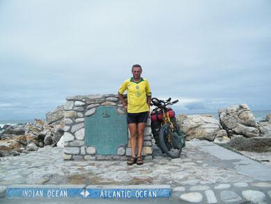 Cape Agulhas, der südlichste Punkt meiner Reise, und von Afrika