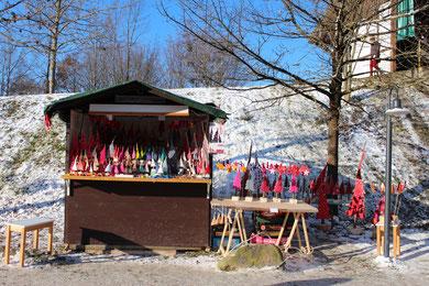 Herrmannsdorfer Weihnachtsmarkt 2012 mit viel Schnee...schee