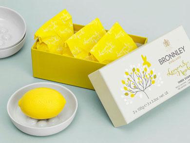 Bronnley Zitronenseife einzeln und 3er Pack