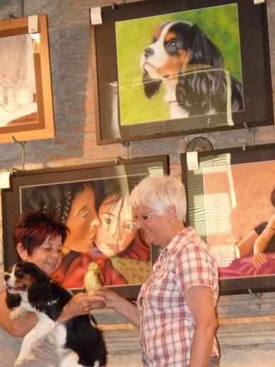 la remise du prix par Danièle Goubet, responsable de cette exposition.