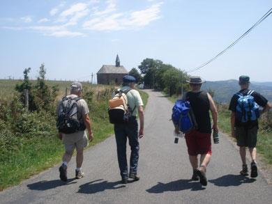 randonnées sur les chemins de St Jacques de Compostelle près de Conques