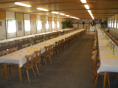 Großer Saal (unser Gründungsfest mit 150Personen)