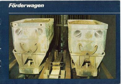 """Katalog """"VEB Förderwagen & Beschlagteile Mühlhausen"""" von 1988 (12 Seiten)"""