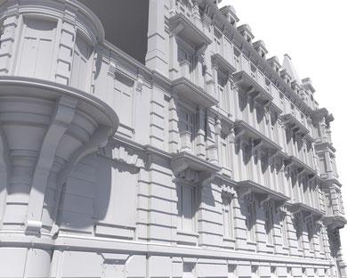 Detailansicht Weisses Schloss Zürich (ArchiCAD)