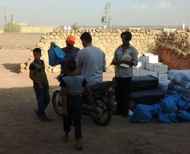 Aide à Hawwarén aux réfugiés qui ont fuie Daesh