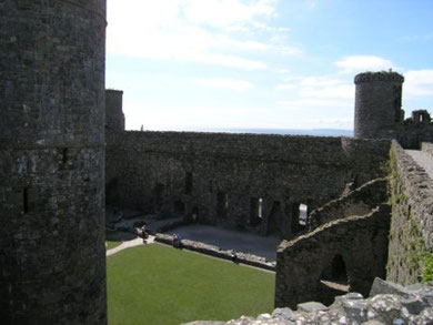 Harlech Castle - Site of the Great hall.