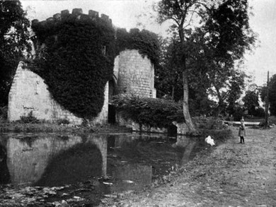 Whittington Castle - 'In Unfamiliar England' by Thos D. Murphy. (1910)