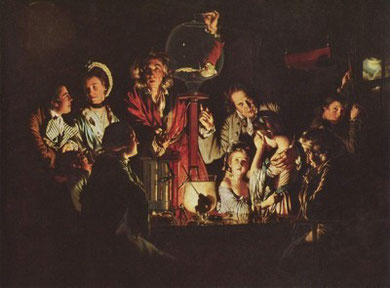 An Experiment On A Bird In An Air Pump by Joseph Wright, (1768).