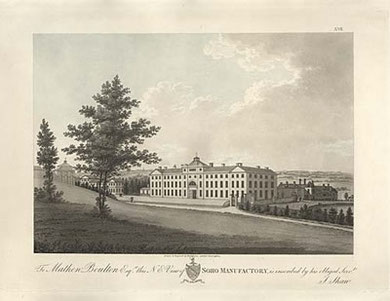 Soho Manufactory, from James Bisset's Magnificent Directory, 1800.