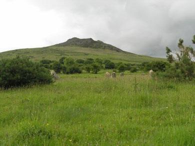Carningli Stone Circle & Carningli Camp beyond.