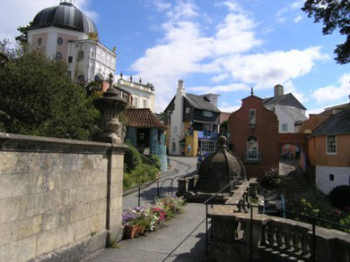 Portmeirion, the location of the 1960's television series The Prisoner.