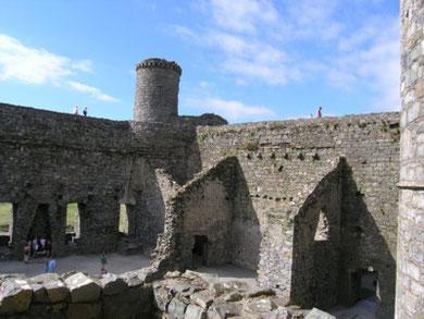 Harlech Castle - The Inner Bailey.