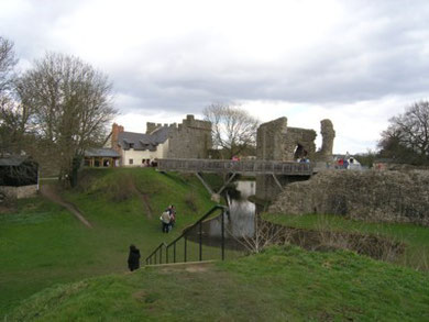Whittington Castle - From the 'medieval viewing platform'.. (2010)