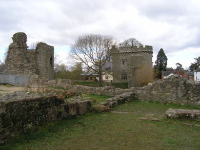 Whittington Castle - The Gatehouse Towers from the Inner Bailey. (2010)